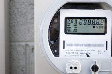smart meter up close